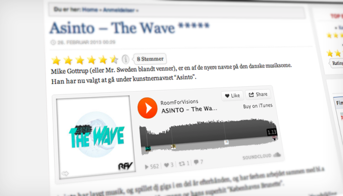 "5 stars to ""Asinto – The Wave""."
